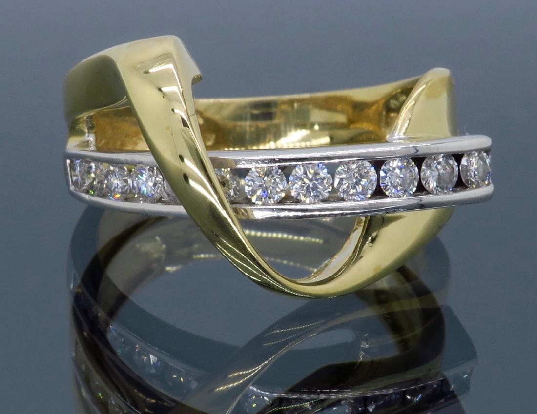 14KT Two Tone Gold 0.50ctw Diamond Ring - 5