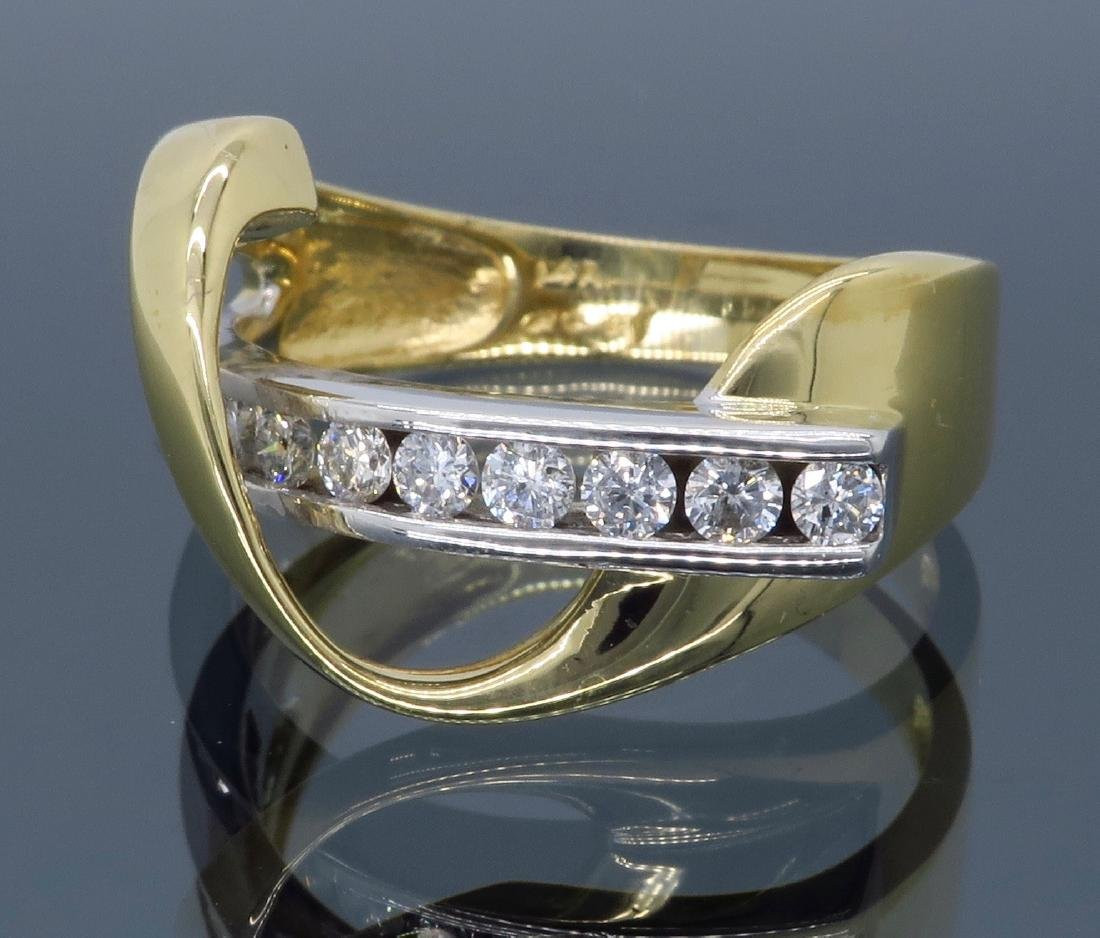 14KT Two Tone Gold 0.50ctw Diamond Ring - 6