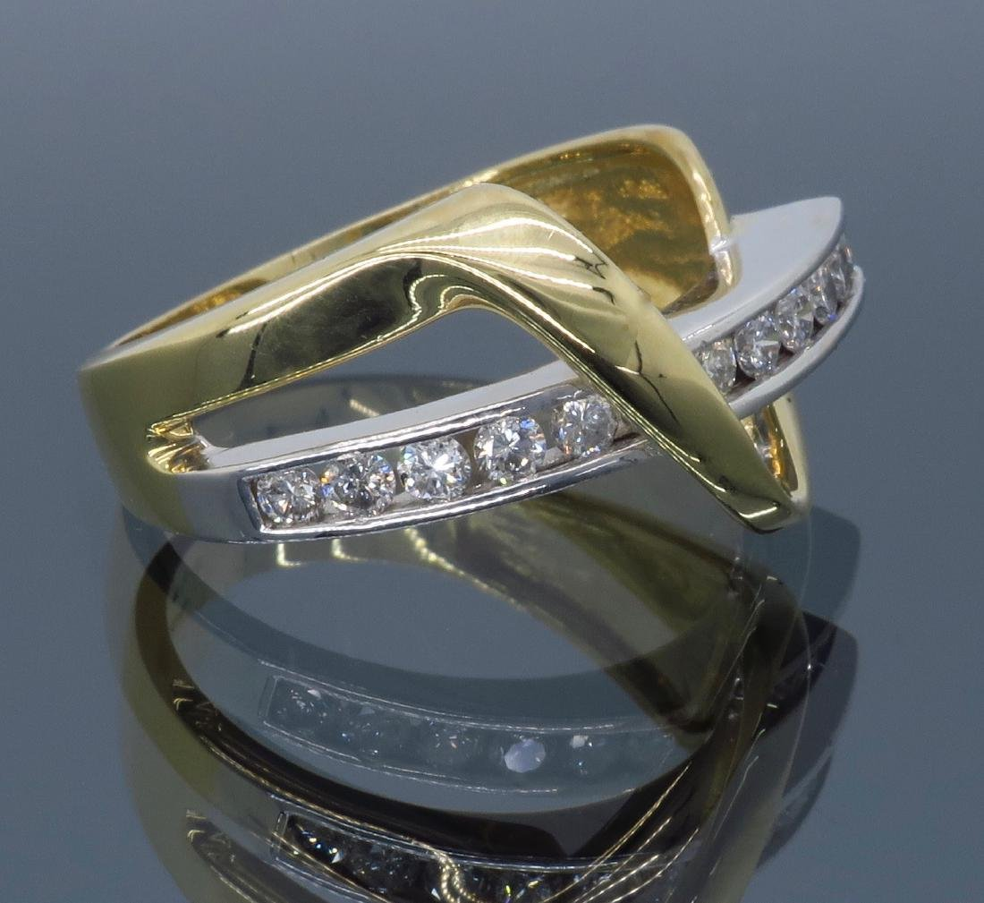 14KT Two Tone Gold 0.50ctw Diamond Ring - 8