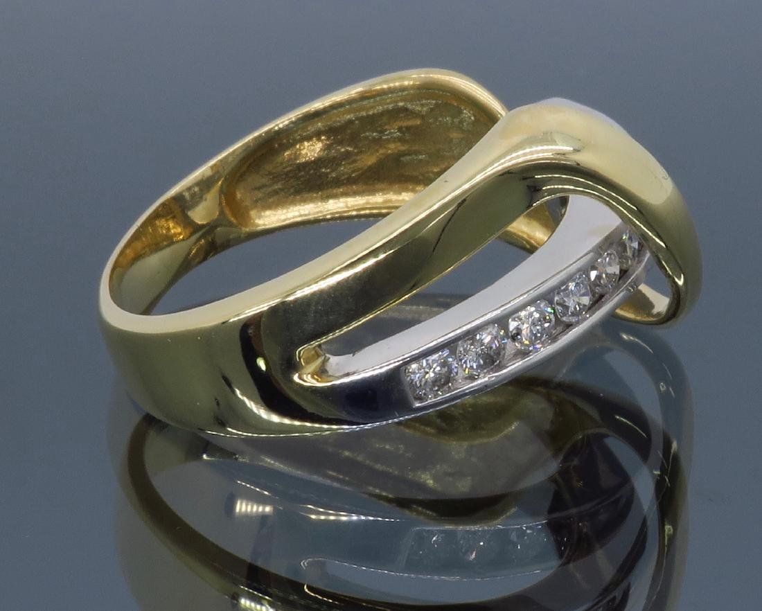 14KT Two Tone Gold 0.50ctw Diamond Ring - 9