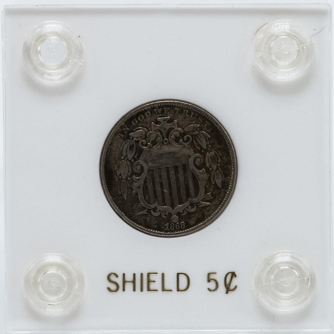 1868 Shield 5 Cent Coin