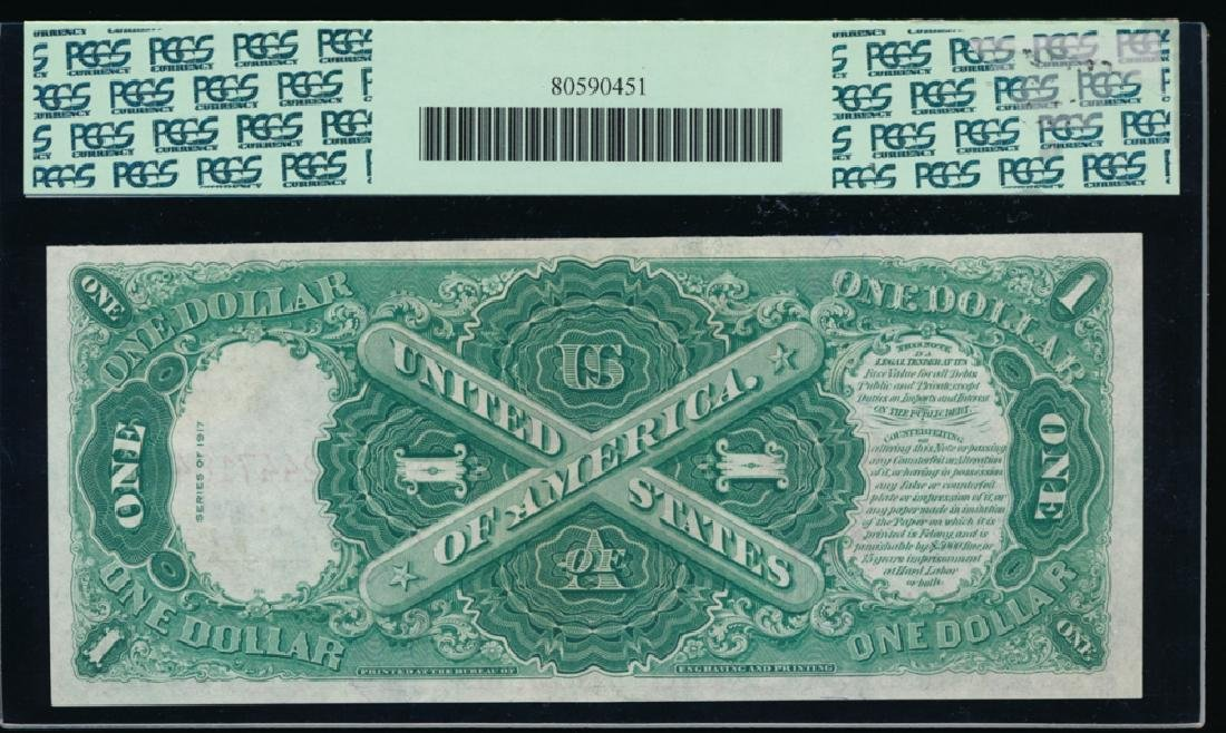 1917 $1 Legal Tender Note PCGS 58PPQ - 2