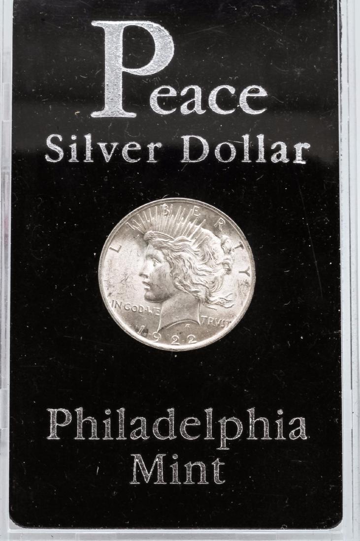 1922-P $1 Peace Silver Dollar Coin