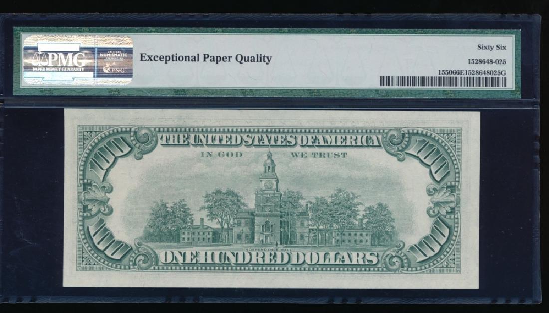 1966 $100 Legal Tender Note PMG 66EPQ - 2