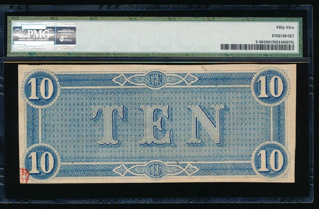 1864 $10 Confederate States of America Note PMG 55 - 2