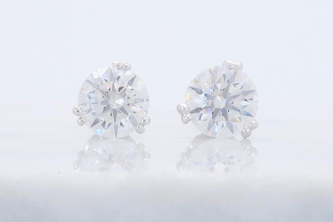 Platinum 1.80ctw Diamond Stud Earrings