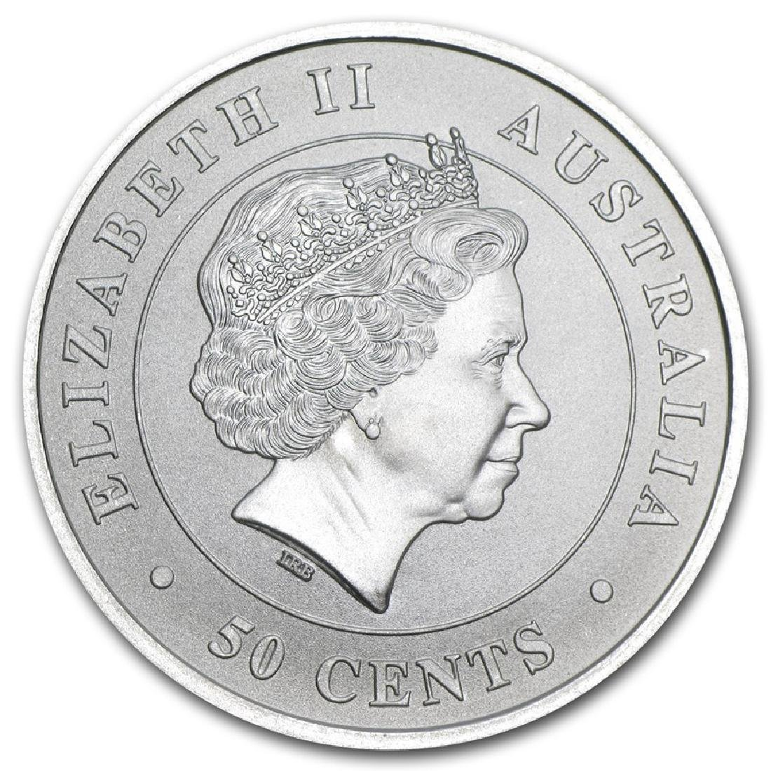 2014 Australia Great White Shark 1/2 oz Silver Coin - 2