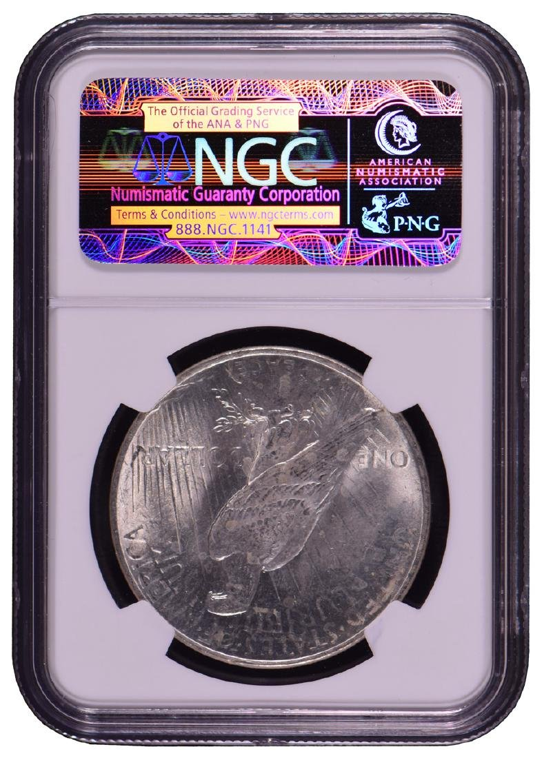 1922 $1 Peace Silver Dollar Coin NGC MS64 - 2