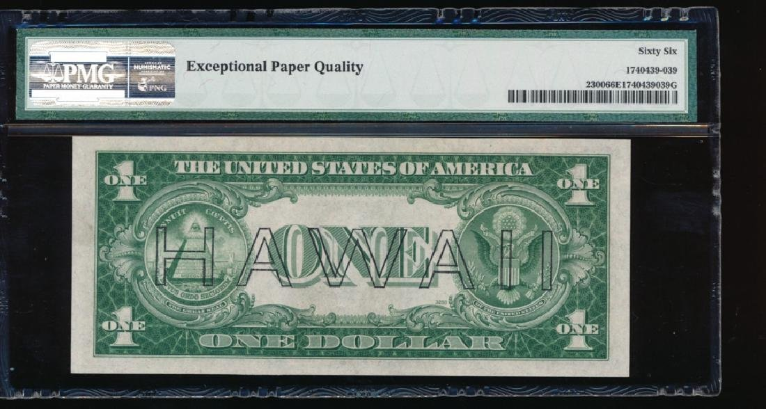 1935A $1 Hawaii WWII Emergency Silver Certificate PMG - 2
