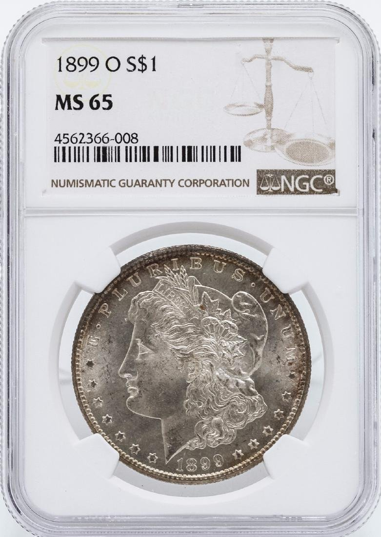 1899-O $1 Morgan Silver Dollar Coin NGC MS65