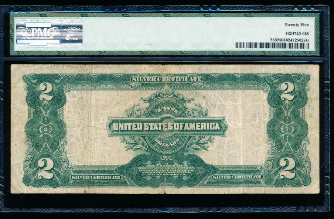 1899 $2 Washington Silver Certificate PMG 25 - 2
