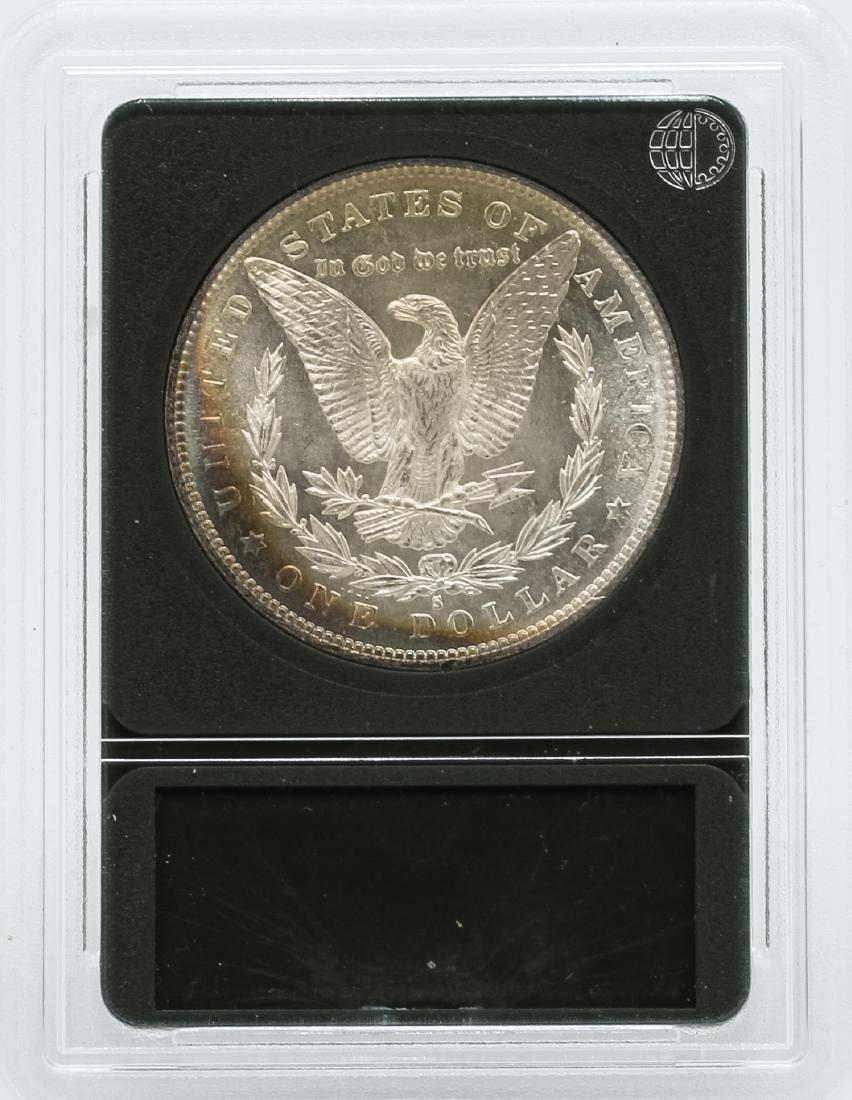 1882-S $1 Morgan Silver Dollar Coin Rainbow Toning - 2