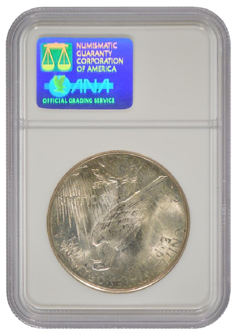 1925-S $1 Peace Silver Dollar Coin NGC MS63 - 2