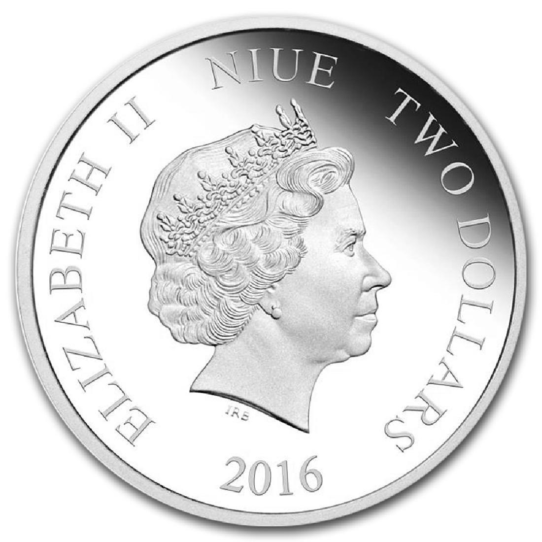 2016 $2 Disney Frozen Olaf Niue Silver Coin - 2