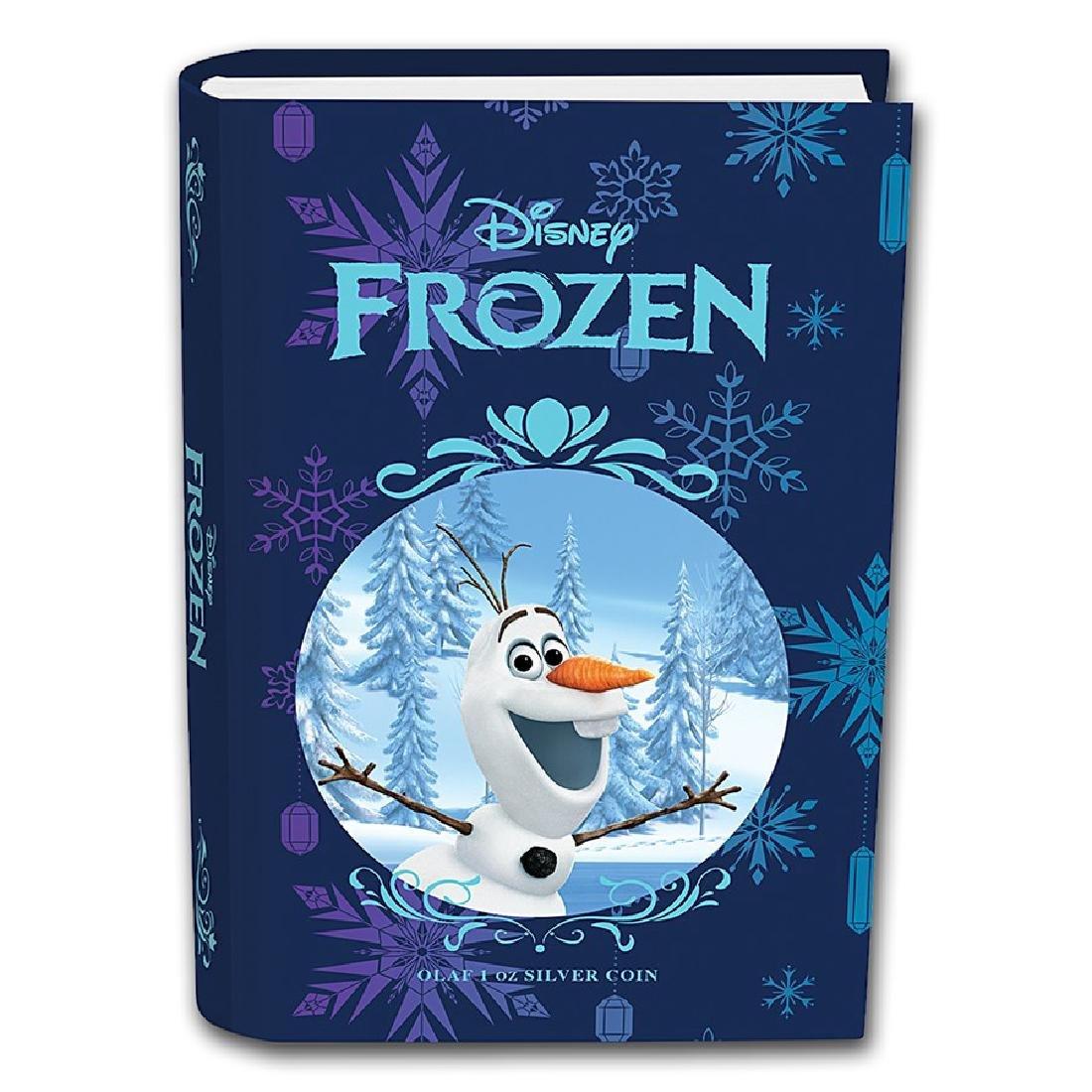 2016 $2 Disney Frozen Olaf Niue Silver Coin - 4