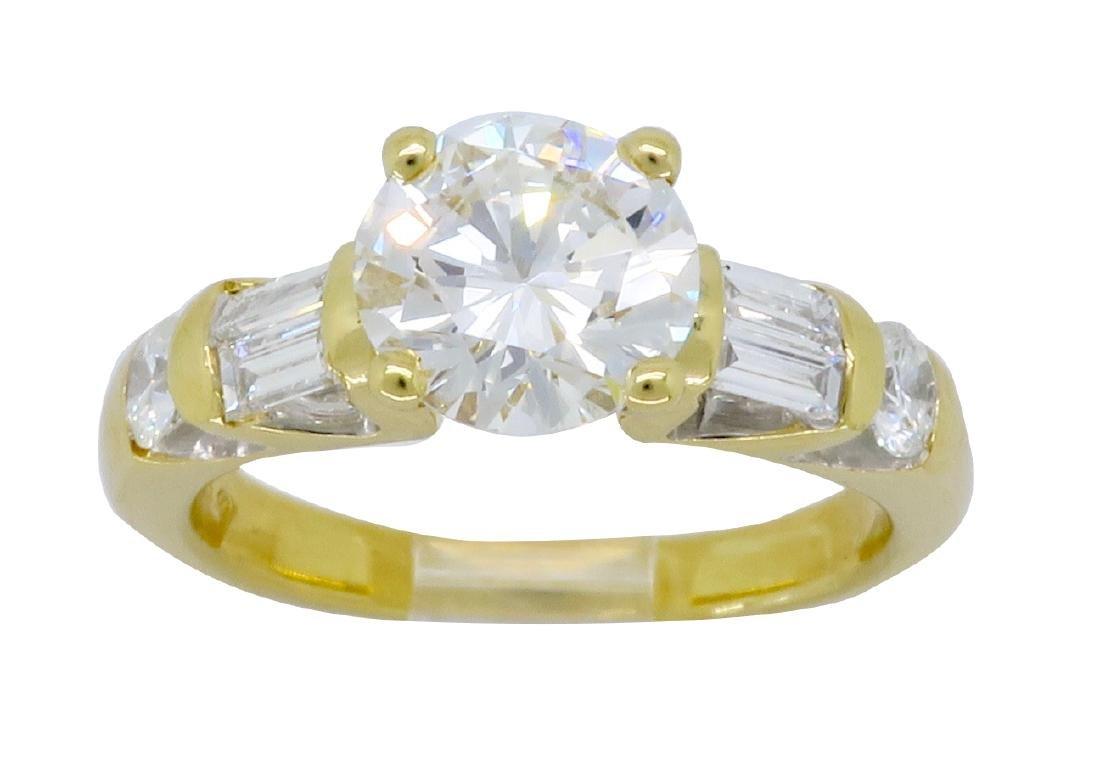 18KT Yellow Gold 1.66ctw GIA Cert Diamond Ring