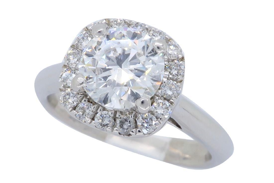 18KT White Gold 1.25ctw GIA Cert Diamond Ring