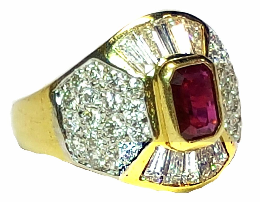 18KT Yellow Gold 2.30ctw Ruby and Diamond Ring - 3