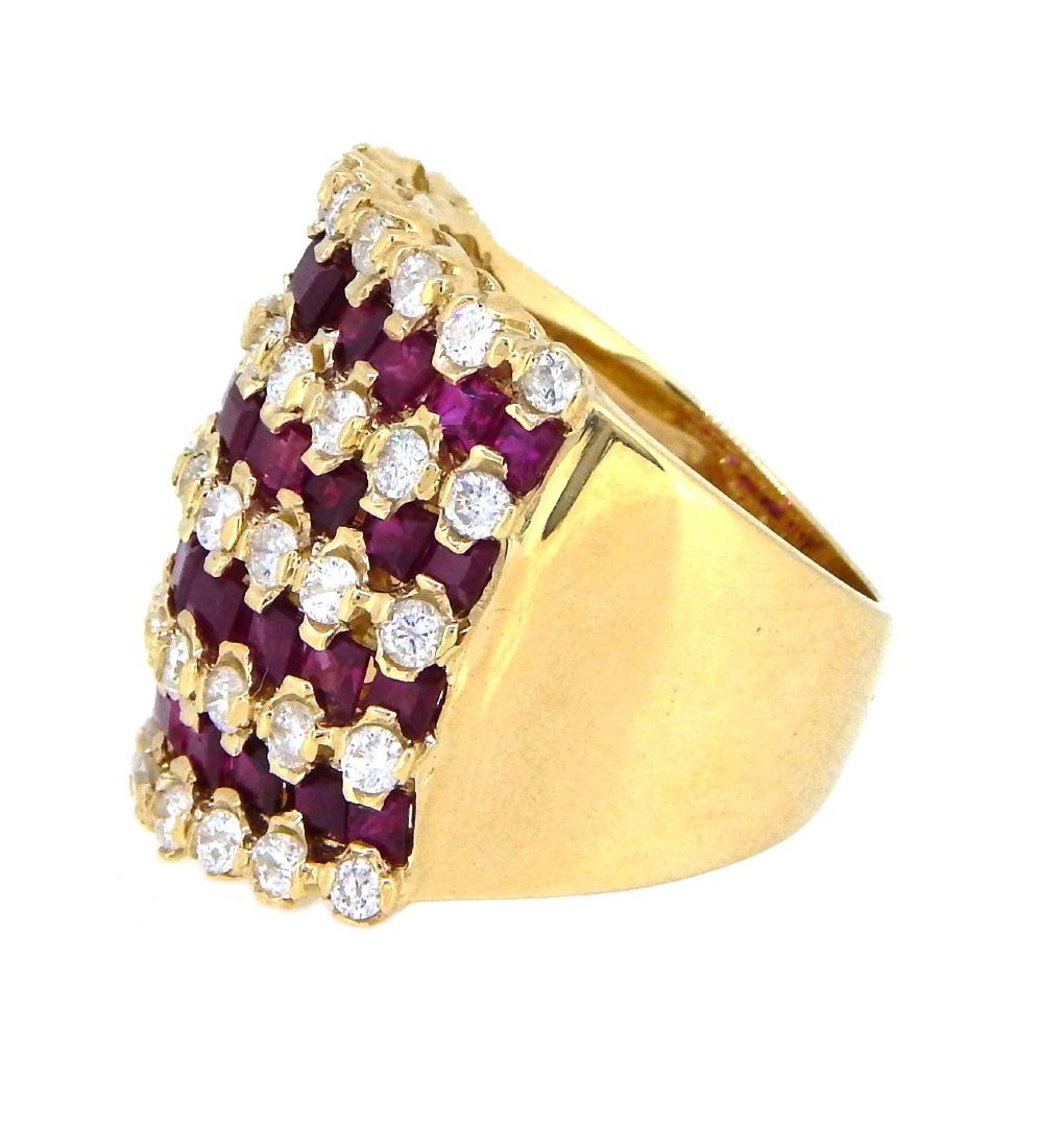 14KT Yellow Gold 4.27ctw Ruby and Diamond Ring - 2