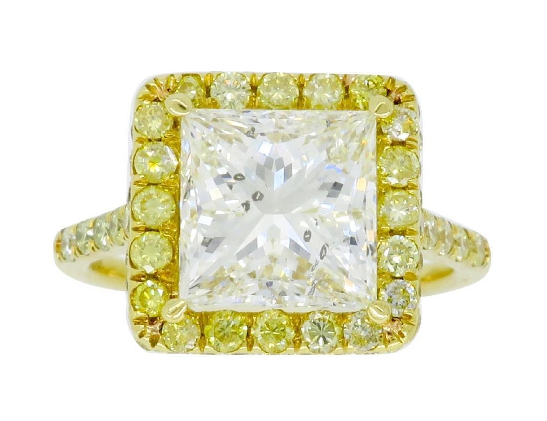 18KT Yellow Gold 3.63ctw Diamond Ring