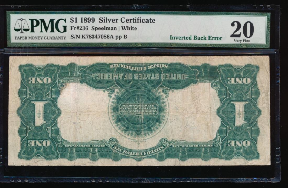 1899 $1 Inverted Back ERROR Black Eagle Silver