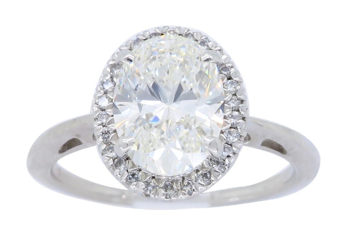 18KT White Gold 1.79ctw GIA Cert Diamond Ring