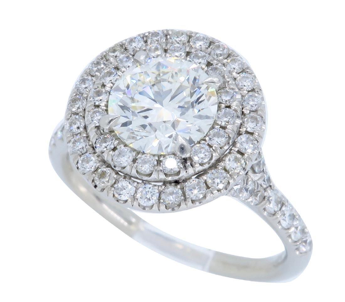 Platinum 1.56ctw GIA Cert Diamond Ring