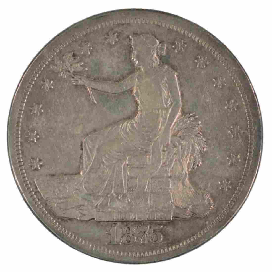 1875-S Trade Dollar Coin