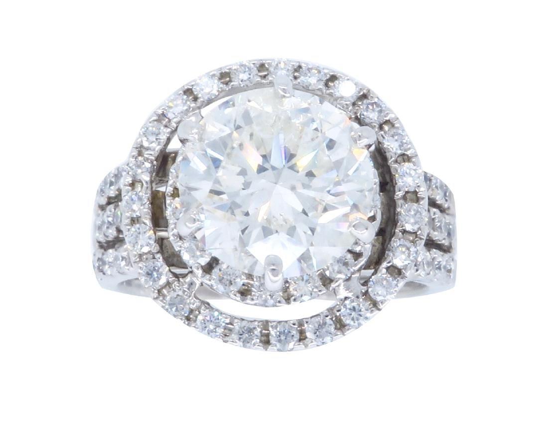 14K White Gold 2.98ctw Diamond Ring