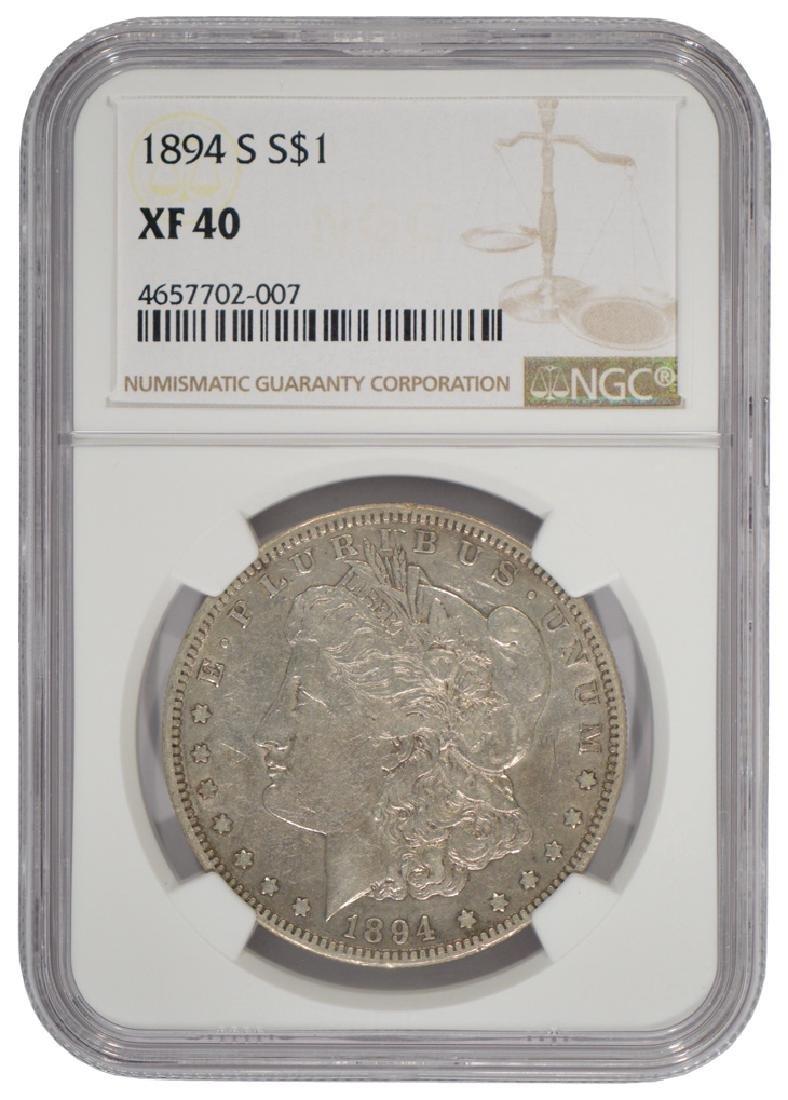1984-S $1 Morgan Silver Dollar Coin NGC XF40