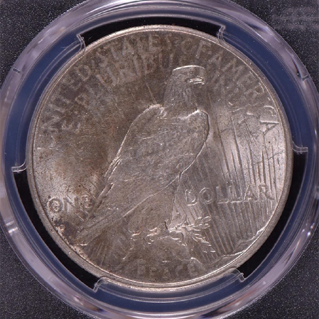 1934-D $1 Peace Silver Dollar Coin PCGS AU58 - 2