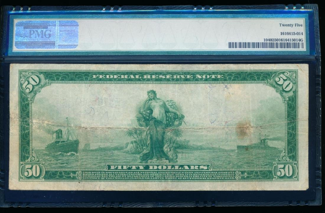 1914 $50 Richmond Federal Reserve Note PMG 25 - 2