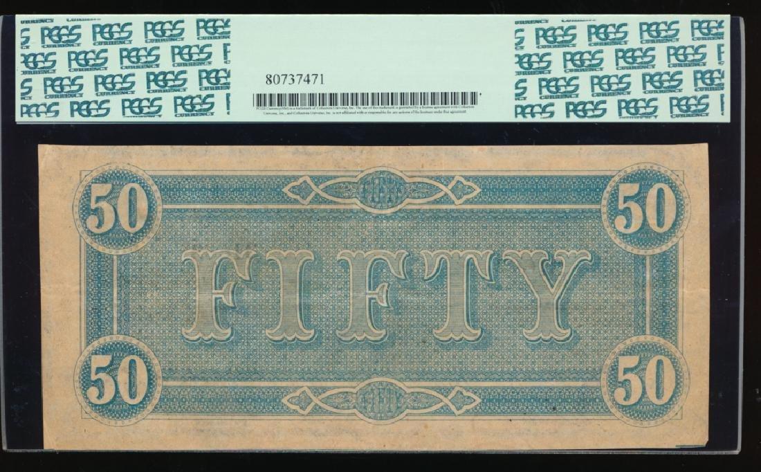 1864 $50 Confederate States of America Note PCGS 40 - 2
