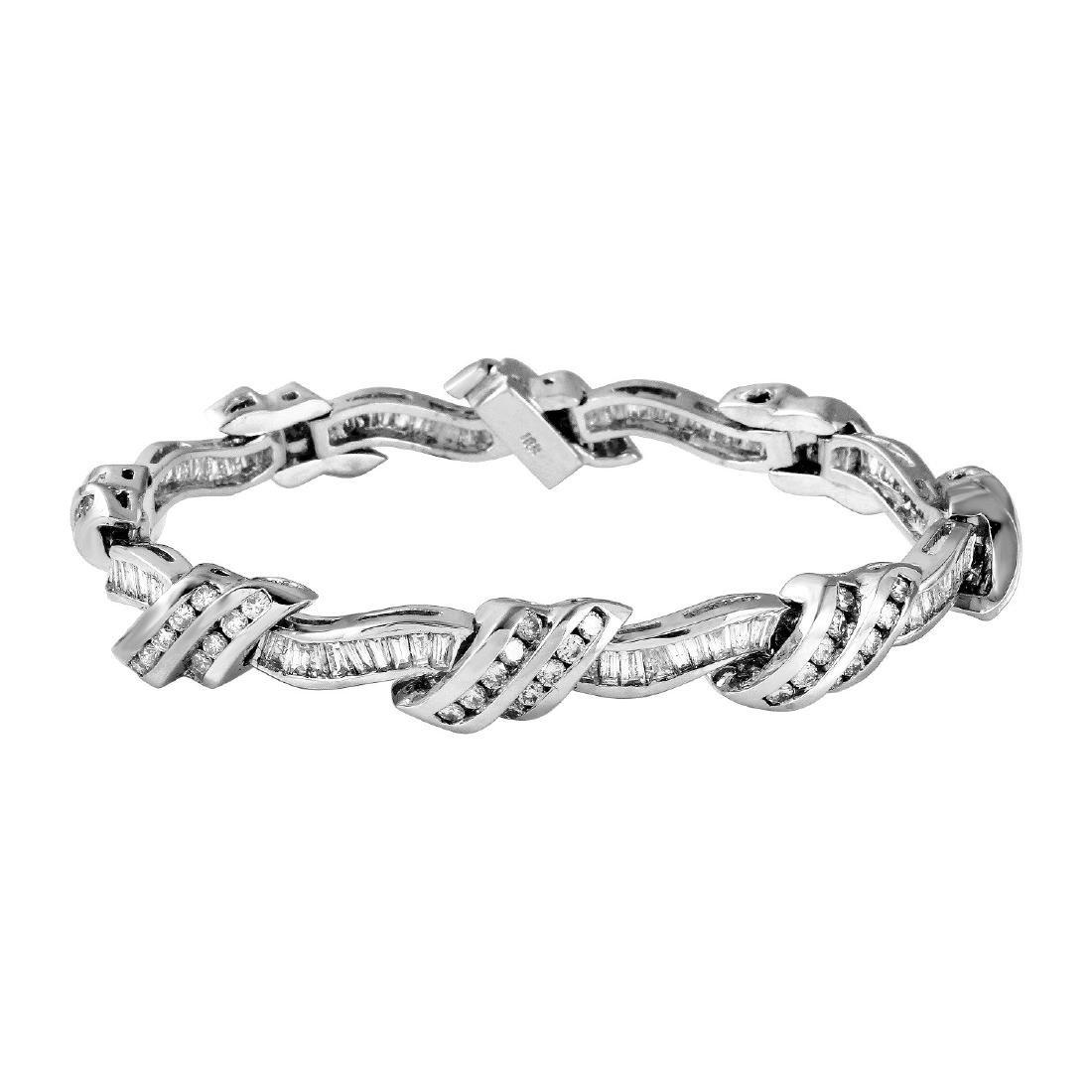 18KT White Gold 6.08ctw Diamond Bracelet