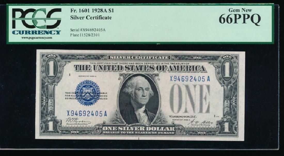 1928A $1 Silver Certificate PCGS 66PPQ