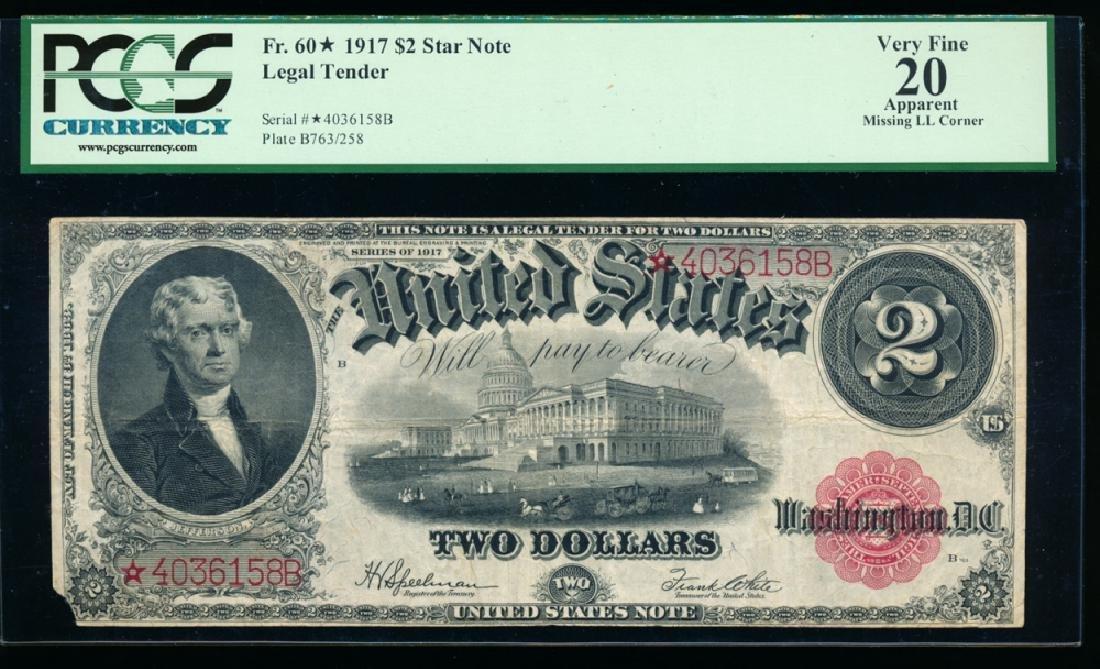 1917 $2 Legal Tender Note PCGS 20