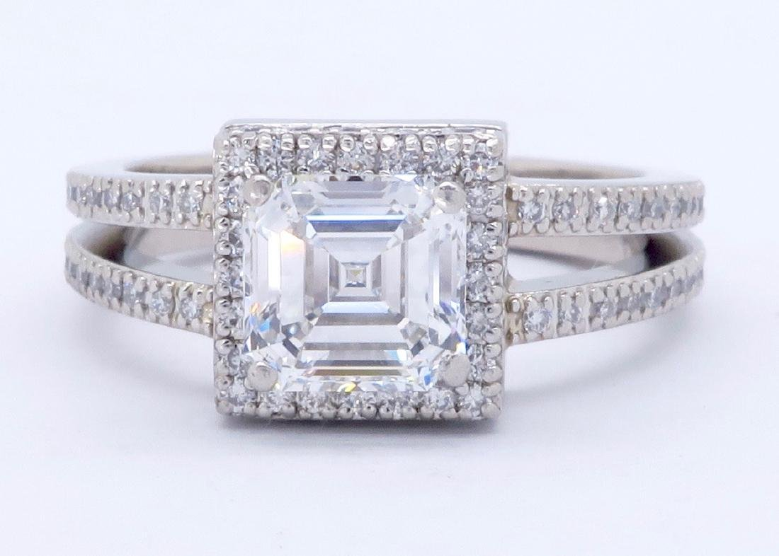 Platinum 1.41ctw GIA Cert Diamond Ring
