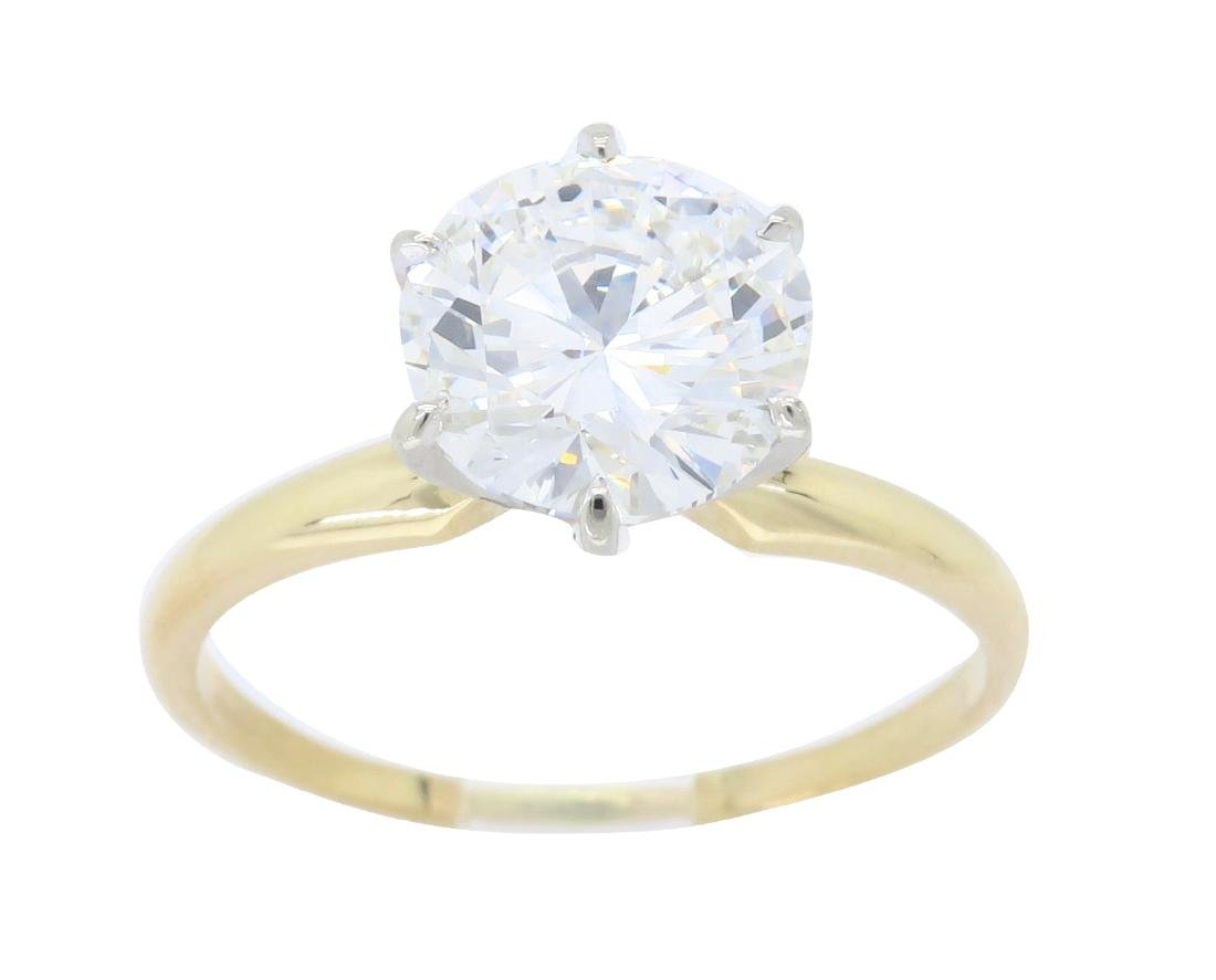 14KT Yellow Gold 2.01ct Diamond Ring