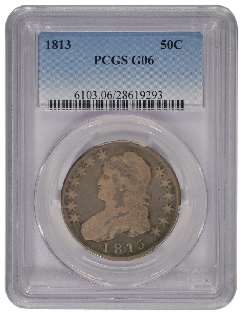1813 Bust Half Dollar Coin PCGS G06