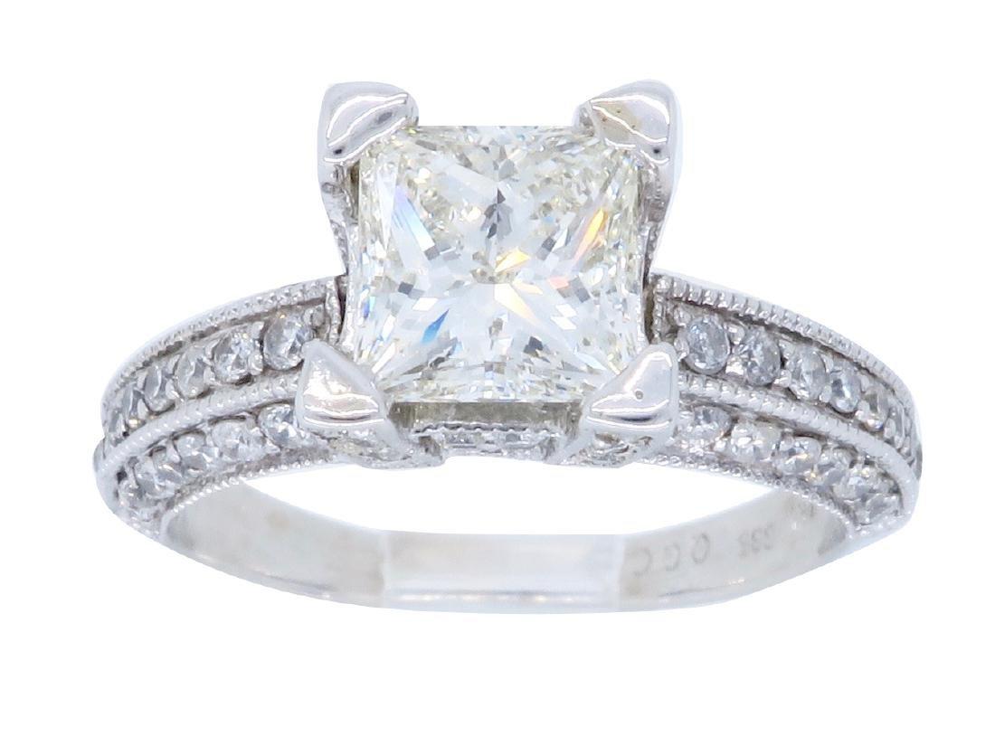 14KT White Gold 1.63ctw Diamond Ring