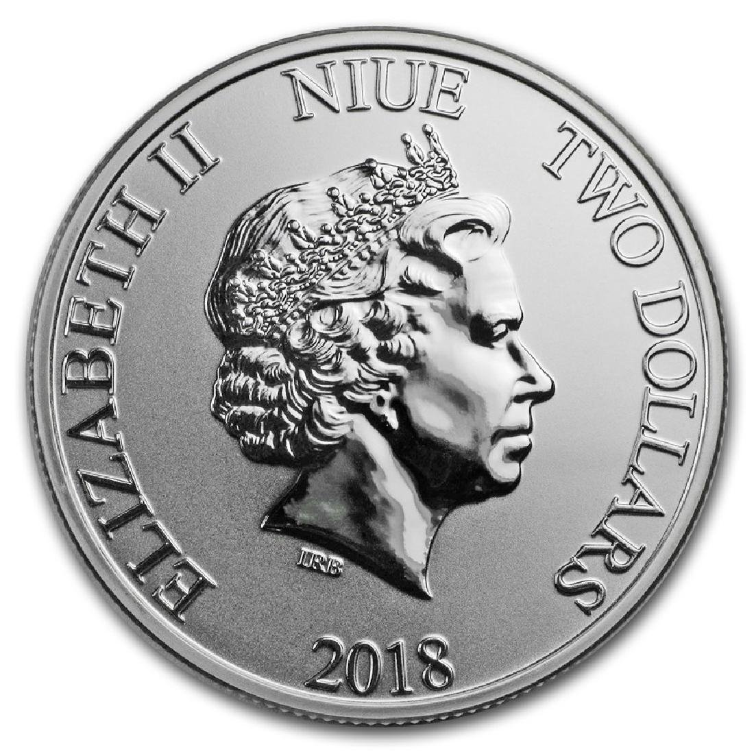 2018 $2 Disney Lunar Year of the Dog Niue Silver Coin - 2