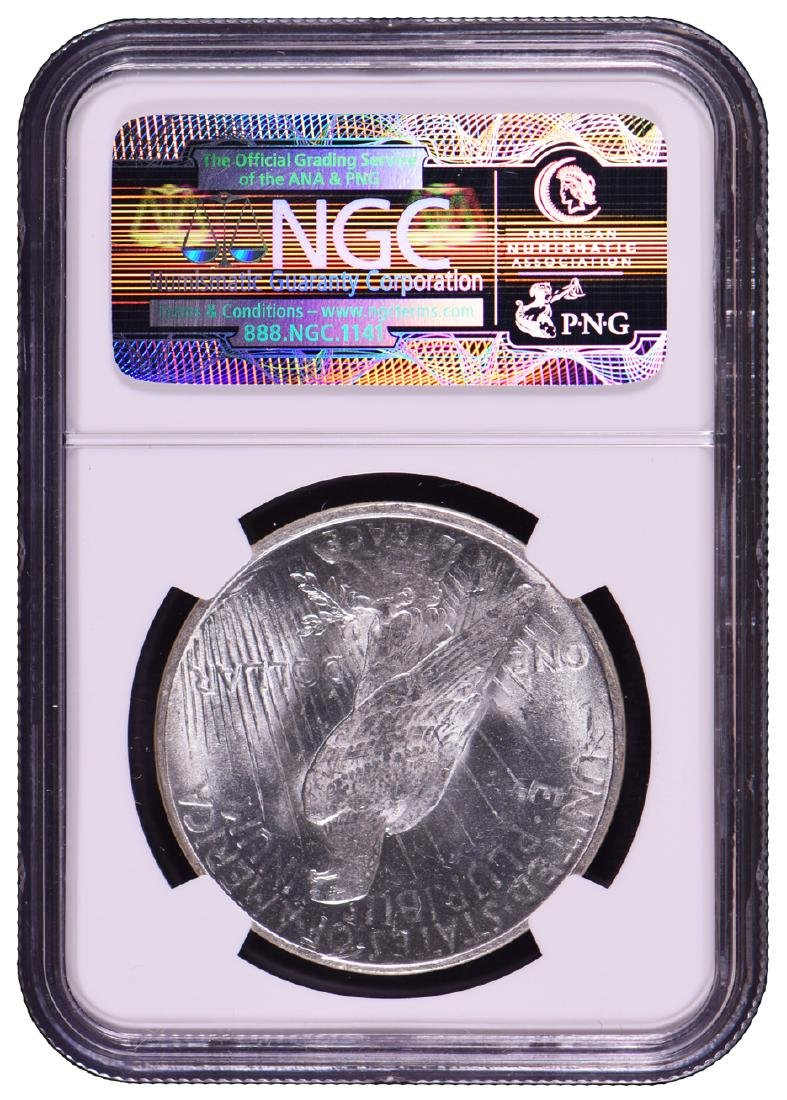 1922-D $1 Peace Silver Dollar Coin NGC MS63 - 2