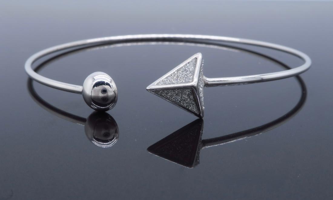 Sterling Silver Glitter Bracelet