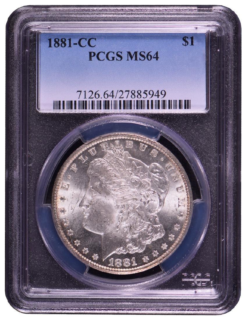 1881-CC $1 Morgan Silver Dollar Coin PCGS MS64