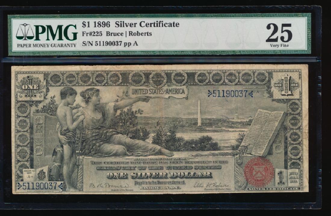 1896 $1 Silver Certificate PMG 25