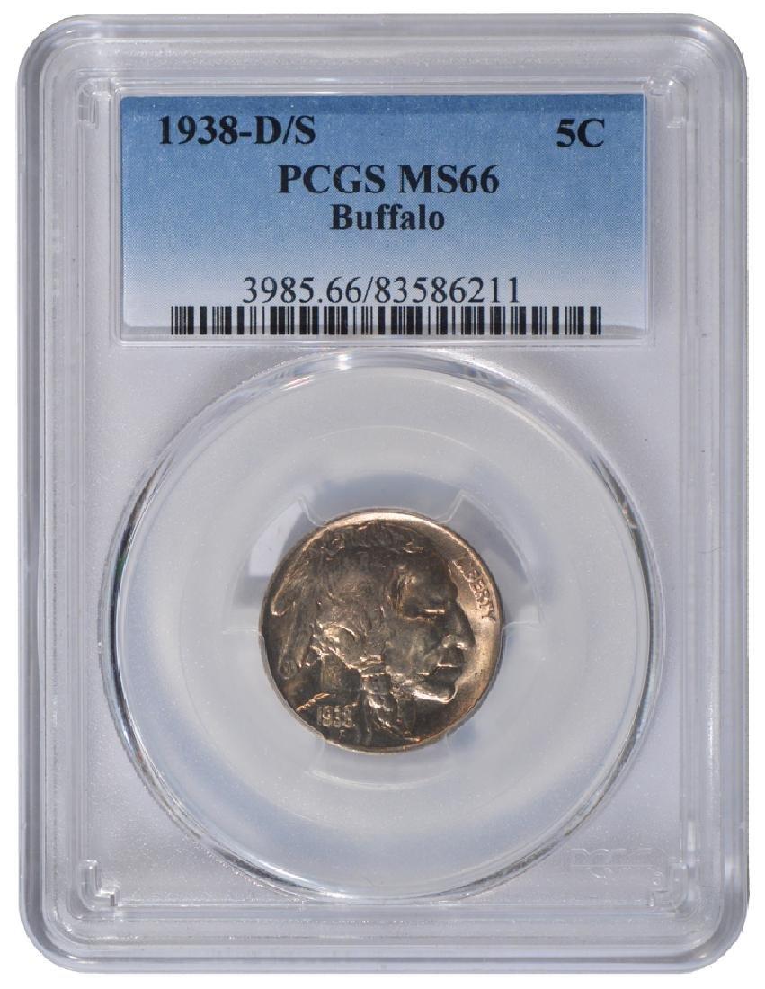 1938-D/S Buffalo Nickel PCGS MS66