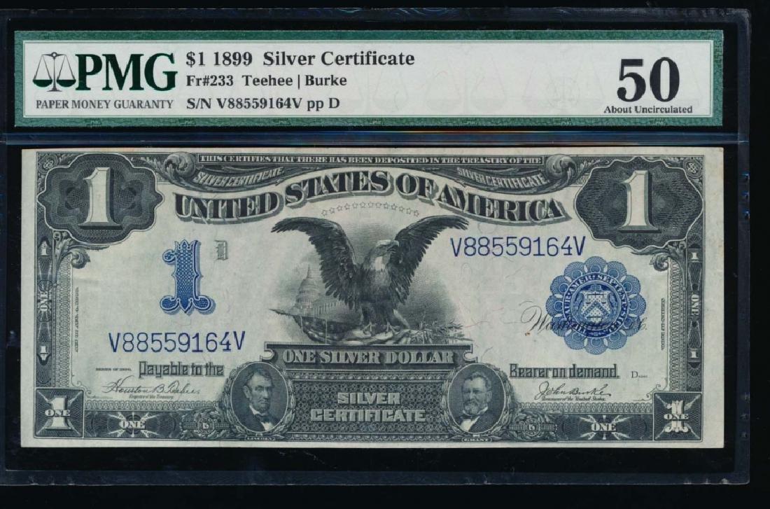 1899 $1 Black Eagle Silver Certificate PMG 50