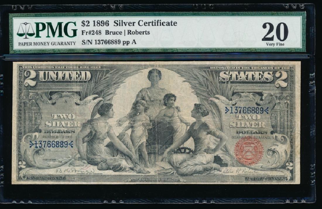 1896 $2 Silver Certificate PMG 20