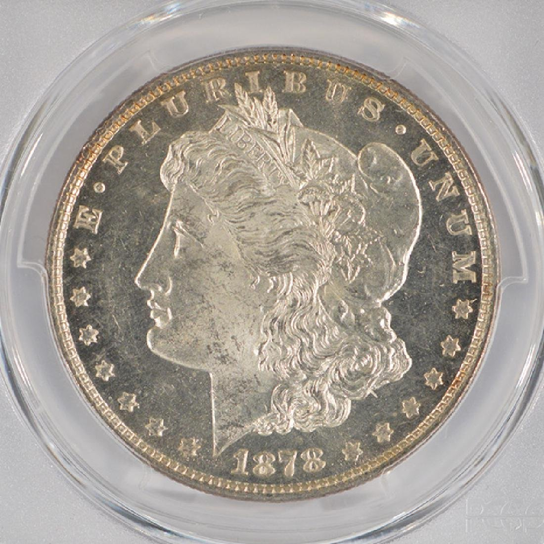 1878 8TF $1 Morgan Silver Dollar Coin PCGS MS63PL - 3