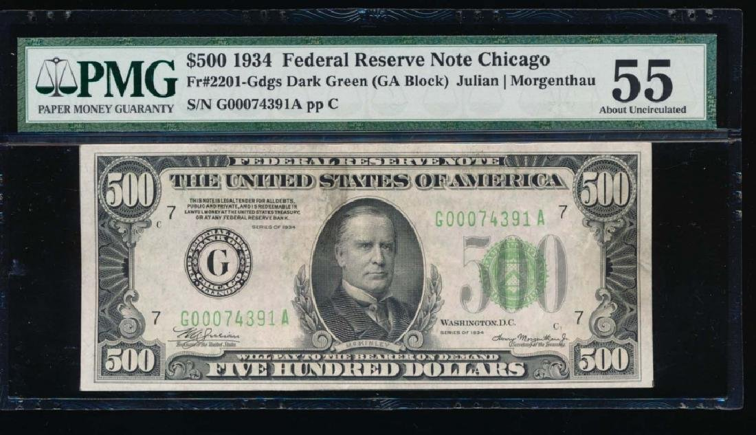 1934 $500 Chicago Federal Reserve Note PMG 55
